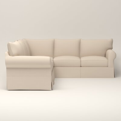 Jameson Symmetrical Sectional Upholstery: Jackson Oyster Microsuede, Orientation: Right Facing