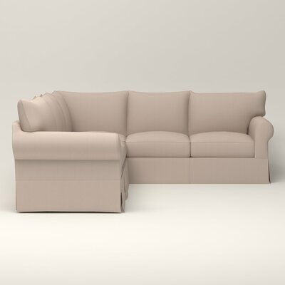 Jameson Symmetrical Sectional Upholstery: Bailey Papyrus Blended Linen, Orientation: Right Facing