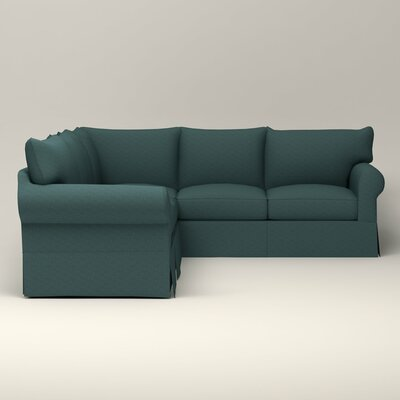 Jameson Symmetrical Sectional Orientation: Right Facing, Upholstery: Bailey Aegean Blended Linen