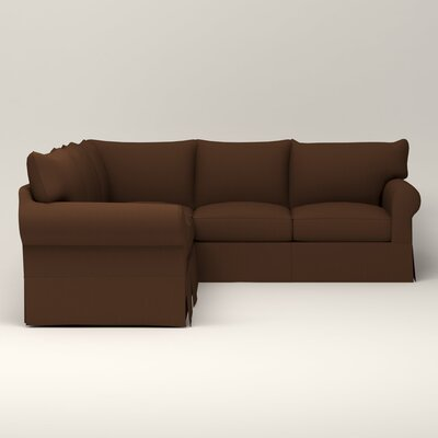 Jameson Symmetrical Sectional Upholstery: Jackson Coffee Microsuede, Orientation: Right Facing