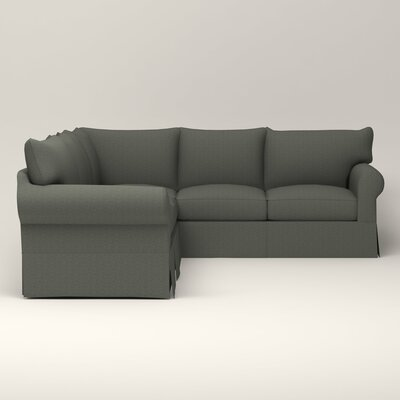 Jameson Symmetrical Sectional Upholstery: Bailey Lagoon Blended Linen, Orientation: Right Facing