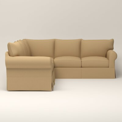 Jameson Symmetrical Sectional Upholstery: Bailey Barley Blended Linen, Orientation: Right Facing