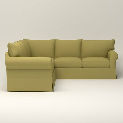 Jameson Symmetrical Sectional Orientation: Right Facing, Upholstery: Bailey Avocado Blended Linen
