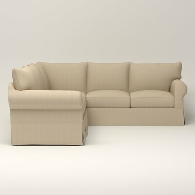 Jameson Symmetrical Sectional Orientation: Right Facing, Upholstery: Bryant Oatmeal Textured Slub