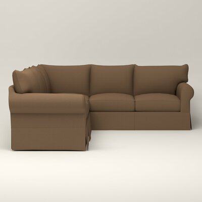 Jameson Symmetrical Sectional Upholstery: Bailey Mushroom Blended Linen, Orientation: Right Facing