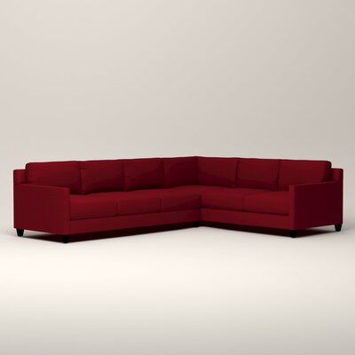 Kerry L-Shaped Sectional Orientation: Right Facing, Upholstery: Tillery Crimson