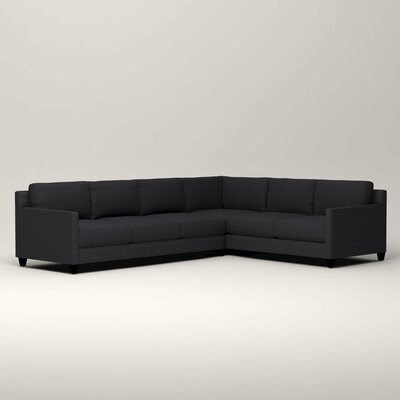Kerry L-Shaped Sectional Orientation: Right Facing, Upholstery: Rowley Navy Tweed