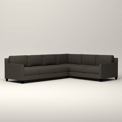 Kerry L-Shaped Sectional Orientation: Right Facing, Upholstery: Jemma Storm Gray