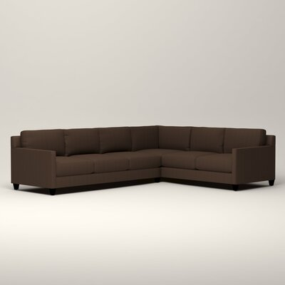 Kerry L-Shaped Sectional Orientation: Right Facing, Upholstery: Tillery Espresso