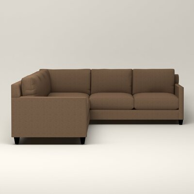 Kerry L-Shaped Sectional Upholstery: Bailey Mushroom Blended Linen, Orientation: Left Facing