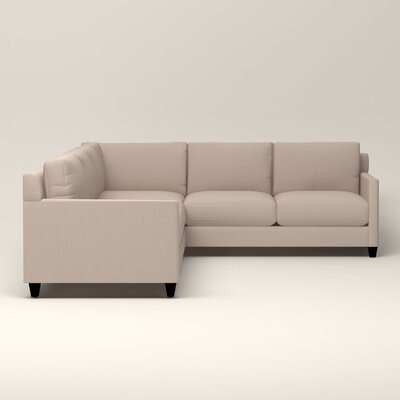 Kerry L-Shaped Sectional Upholstery: Bailey Papyrus Blended Linen, Orientation: Left Facing