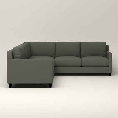 Kerry L-Shaped Sectional Upholstery: Bailey Lagoon Blended Linen, Orientation: Left Facing