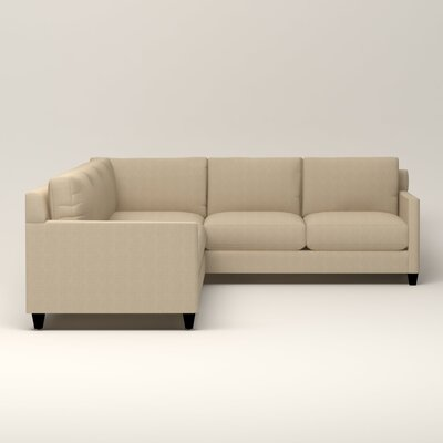 Kerry L-Shaped Sectional Orientation: Left Facing, Upholstery: Bryant Oatmeal Textured Slub