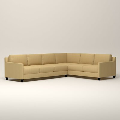 Kerry L-Shaped Sectional Orientation: Right Facing, Upholstery: Tillery Sunglow