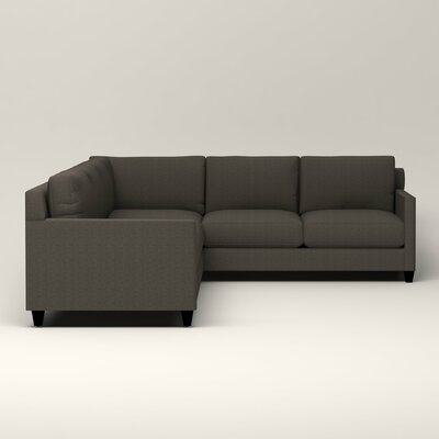 Kerry L-Shaped Sectional Upholstery: Bailey Charcoal Blended Linen, Orientation: Left Facing
