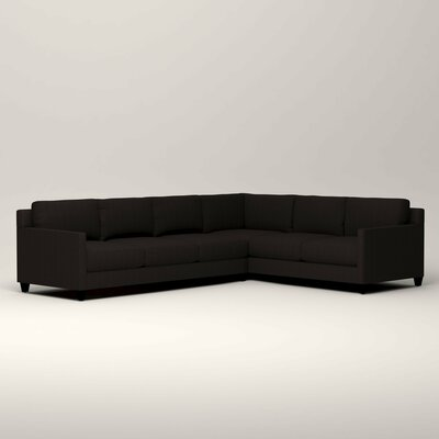 Kerry L-Shaped Sectional Orientation: Right Facing, Upholstery: Bryant Ebony Textured Slub