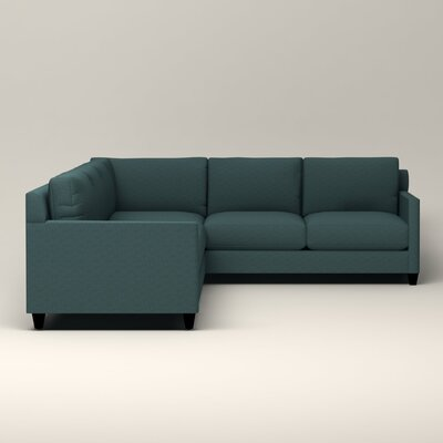 Kerry L-Shaped Sectional Orientation: Left Facing, Upholstery: Bailey Aegean Blended Linen