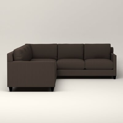 Kerry L-Shaped Sectional Upholstery: Jackson Storm Microsuede, Orientation: Left Facing