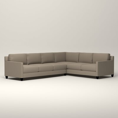Kerry L-Shaped Sectional Orientation: Right Facing, Upholstery: Jemma Silver Mist