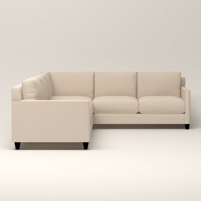Kerry L-Shaped Sectional Upholstery: Jackson Oyster Microsuede, Orientation: Left Facing