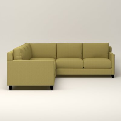 Kerry L-Shaped Sectional Orientation: Left Facing, Upholstery: Bailey Avocado Blended Linen