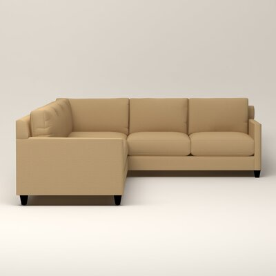 Kerry L-Shaped Sectional Upholstery: Bailey Barley Blended Linen, Orientation: Left Facing