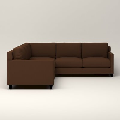 Kerry L-Shaped Sectional Upholstery: Jackson Coffee Microsuede, Orientation: Left Facing