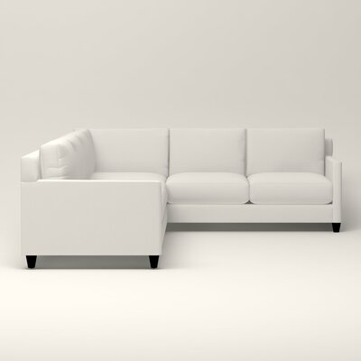 Kerry L-Shaped Sectional Upholstery: Truman Cloud White Twill, Orientation: Left Facing