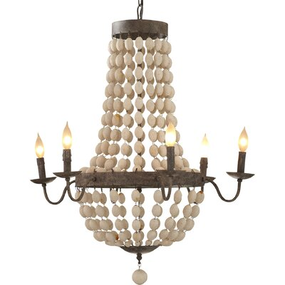 Addington 6-Light Candle-Style Chandelier