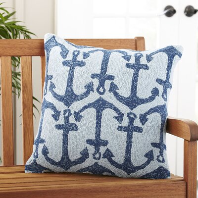 Blue Anchor Outdoor Pillow Cover