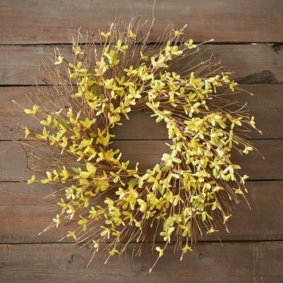 Faux Forsythia Spray Wreath