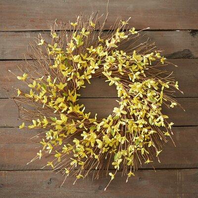 Faux Forsythia Spray Wreath
