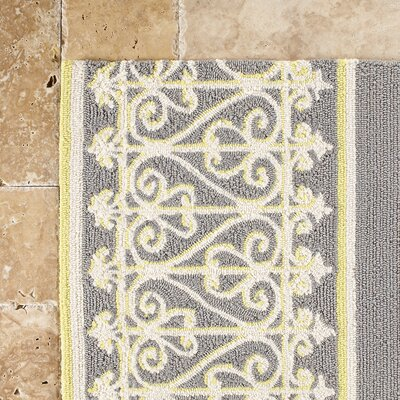 Edwin Hand-Woven Gray Indoor/Outdoor Area Rug Rug Size: Rectangle 33 x 53