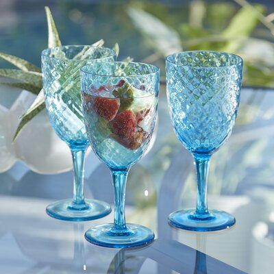 Granada Plastic Goblets Color: Aqua