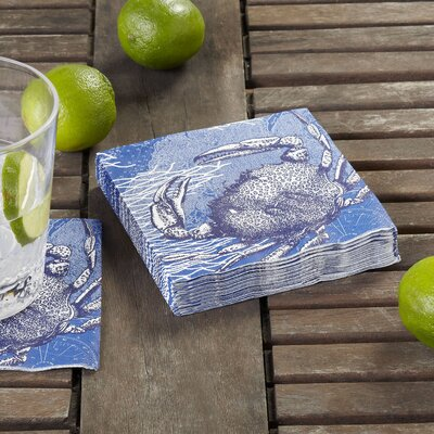 Crab Cocktail Napkin (Set of 3)