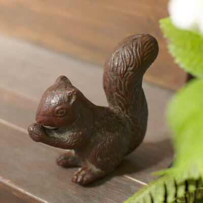Iron Squirrel Figurine