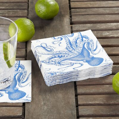 Octopus Cocktail Napkin (Set of 3)