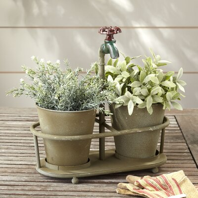 Faucet 2-Piece Pot Planter Set