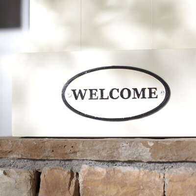Cast Iron Sign - Welcome -