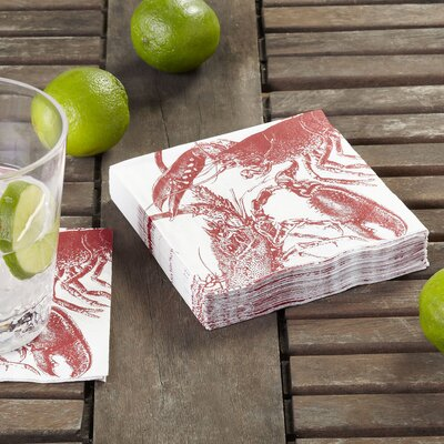 Lobster Cocktail Napkin (Set of 3)