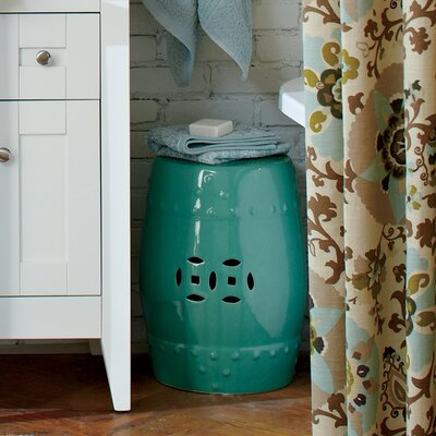 Glazed Ceramic Garden Stool Finish: Pool