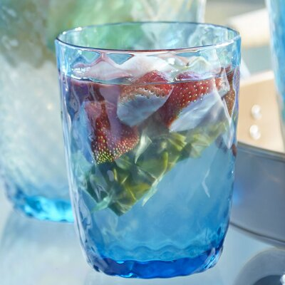 Granada Plastic Double Old-Fashioned Glasses Color: Aqua