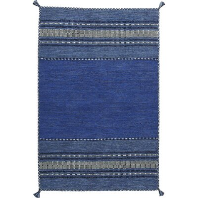 Fogarty Hand-Woven Blue Area Rug Rug Size: Runner 26 x 8