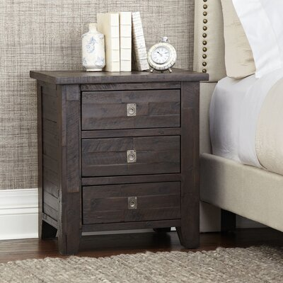 Rico 3 Drawer Nightstand