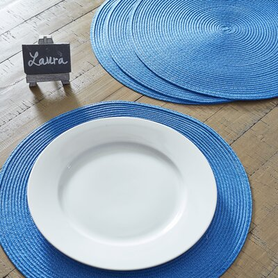 Round Braided Placemats Color: Ocean