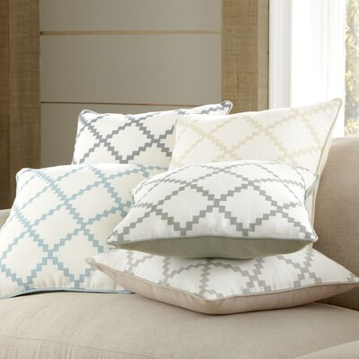 Pasqual Pillow Cover Color: NeutralBlue, Size: 22 H x 22 W x 0.25 D