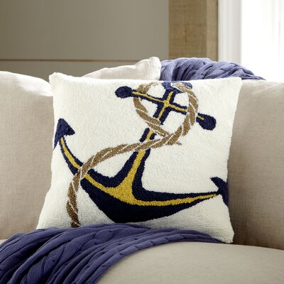 Hooked Anchor Pillow