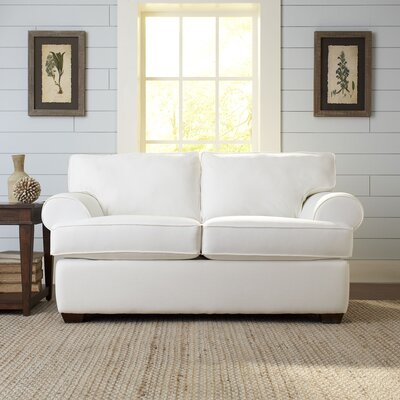 Wright Loveseat Upholstery: Godiva Putty