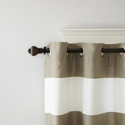 Turned Finial Single Curtain Rod and Hardware Set