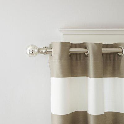 Mercury Glass Finial Single Curtain Rod and Hardware Set